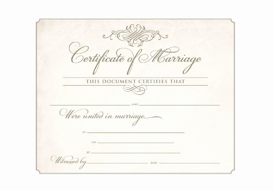 Blank Marriage Certificate Template New Download Blank Marriage Certificates