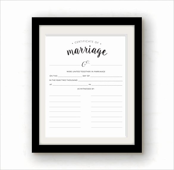 Blank Marriage Certificate Template Unique Certificate Templates
