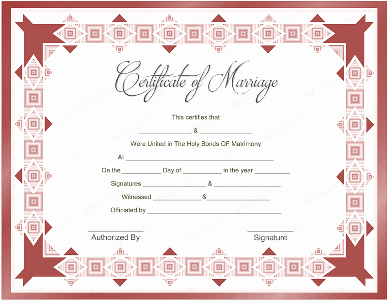 Blank Marriage Certificates Printable Awesome 10 Beautiful Marriage Certificate Templates to Try This Season