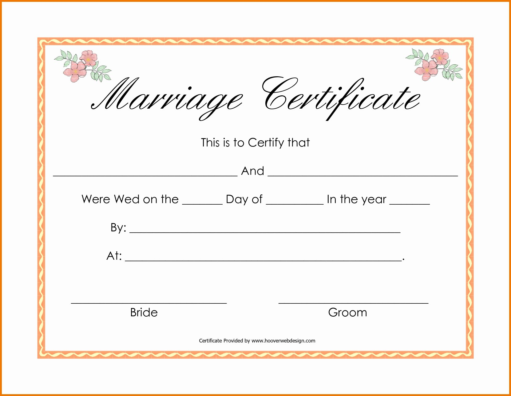Blank Marriage Certificates Printable Awesome Free Editable Marriage Certificates Exclusive Blank