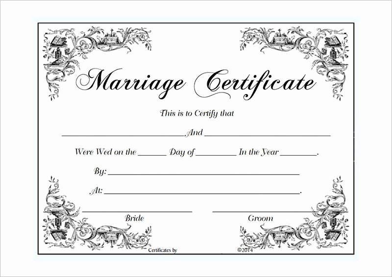 Blank Marriage Certificates Printable Best Of Marriage Certificate Template Microsoft Word Selimtd