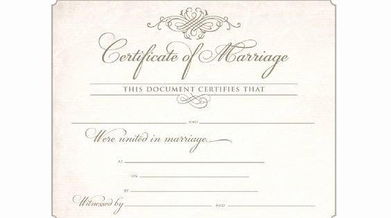 Blank Marriage Certificates Printable Elegant Download Blank Marriage Certificates