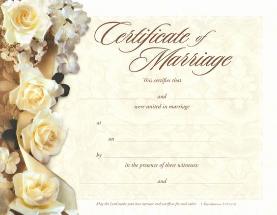 Blank Marriage Certificates Printable Elegant Marriage Certificate Marriage and Certificate Templates