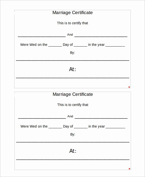 Blank Marriage Certificates Printable Fresh Sample Marriage Certificate 16 Documents In Pdf Word