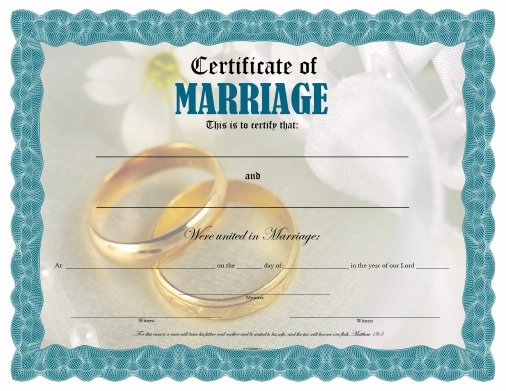 Blank Marriage Certificates Printable Lovely Certificate Of Marriage Free Printable