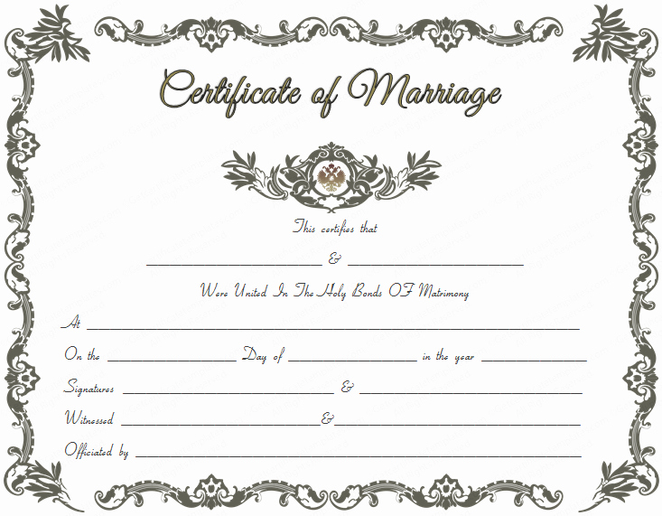 Blank Marriage Certificates Printable Lovely Royal Marriage Certificate Template Get Certificate