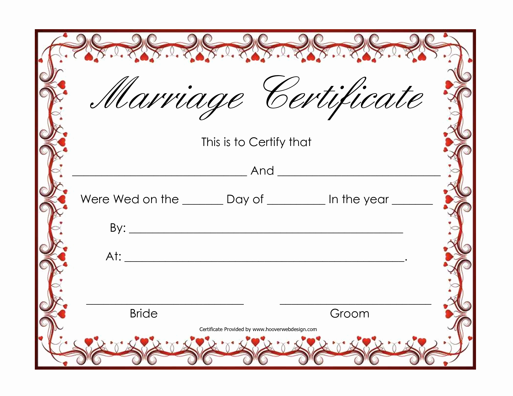 Blank Marriage Certificates Printable Luxury Free Blank Marriage Certificates
