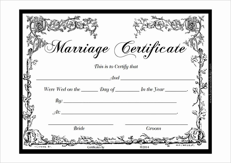 Blank Marriage Certificates Printable Luxury Marriage Certificate Template Pdf