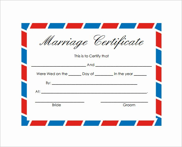 Blank Marriage Certificates Printable Unique 17 Wedding Template Doc Excel Pdf Psd Indesign