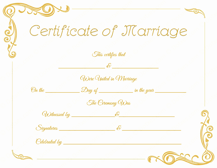 Blank Marriage Certificates Printable Unique Standard Marriage Certificate Template Dotxes