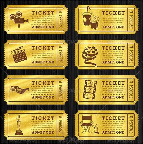 Blank Movie Ticket Template Beautiful Free 17 Sample Blank Ticket Templates In Illustrator
