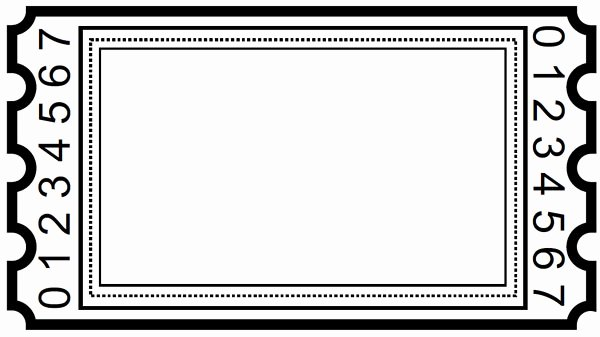 Blank Movie Ticket Template Elegant Ticket Clipart – Gclipart