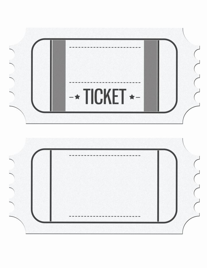 Blank Movie Ticket Template Fresh Movie Ticket Template