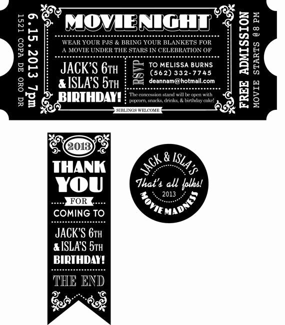 Blank Movie Ticket Template Inspirational Blank Movie Ticket Invitation Template Free Download Aashe