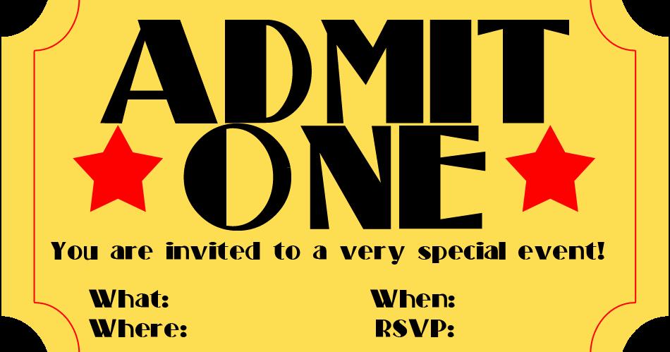 Blank Movie Ticket Template New Free Printable Invitation Movie Ticket Stub