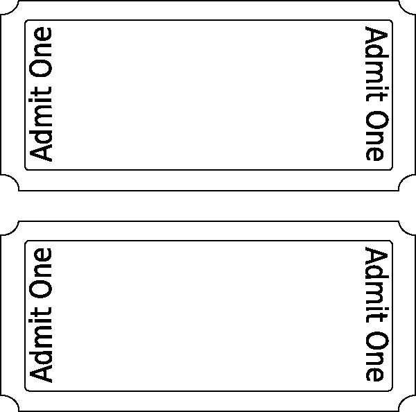 Blank Movie Ticket Template Unique Admit E Ticket Template Clipart Best