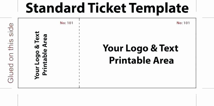 Blank Movie Ticket Template Unique Free Printable Movie Ticket Template – 40 Free Editable