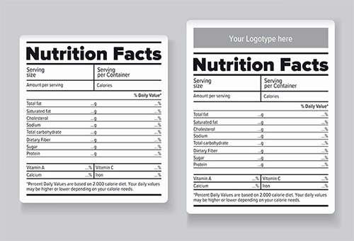Blank Nutrition Label Template Awesome 22 Food Label Templates Free Psd Eps Ai Illustrator