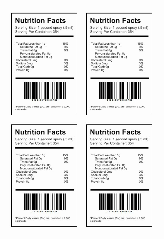 Blank Nutrition Label Template Luxury Nutrition Label Template Download