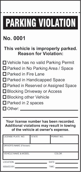 Blank Parking Ticket Template Fresh 28 Of Parking Violation form Template