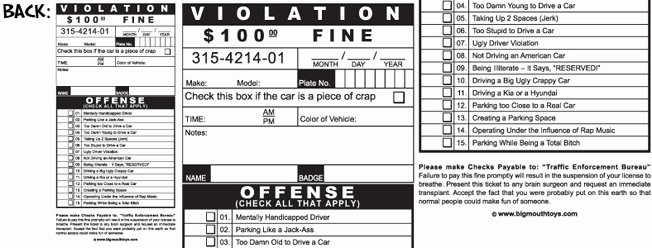Blank Parking Ticket Template Unique 26 Of Fake Speeding Ticket Template