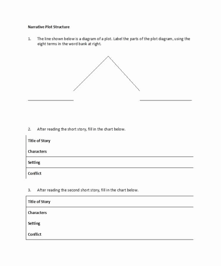Blank Plot Diagram New 45 Professional Plot Diagram Templates Plot Pyramid