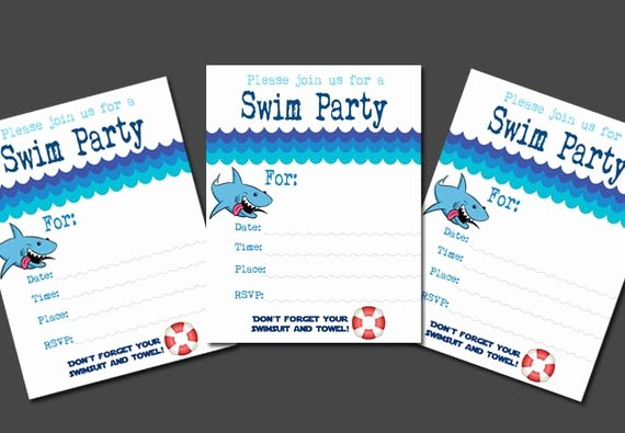 Blank Pool Party Invitations Awesome Fill In the Blank Boy S Swim Party Invitation Pool Party