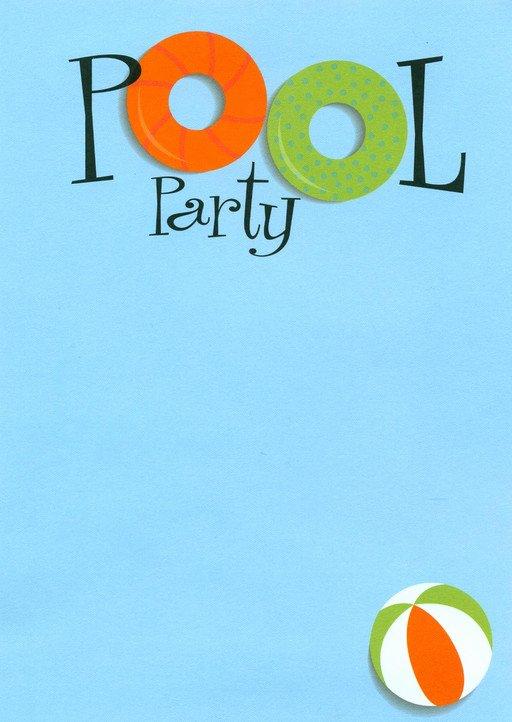 Blank Pool Party Invitations Beautiful Swimming Pool Party Invitations