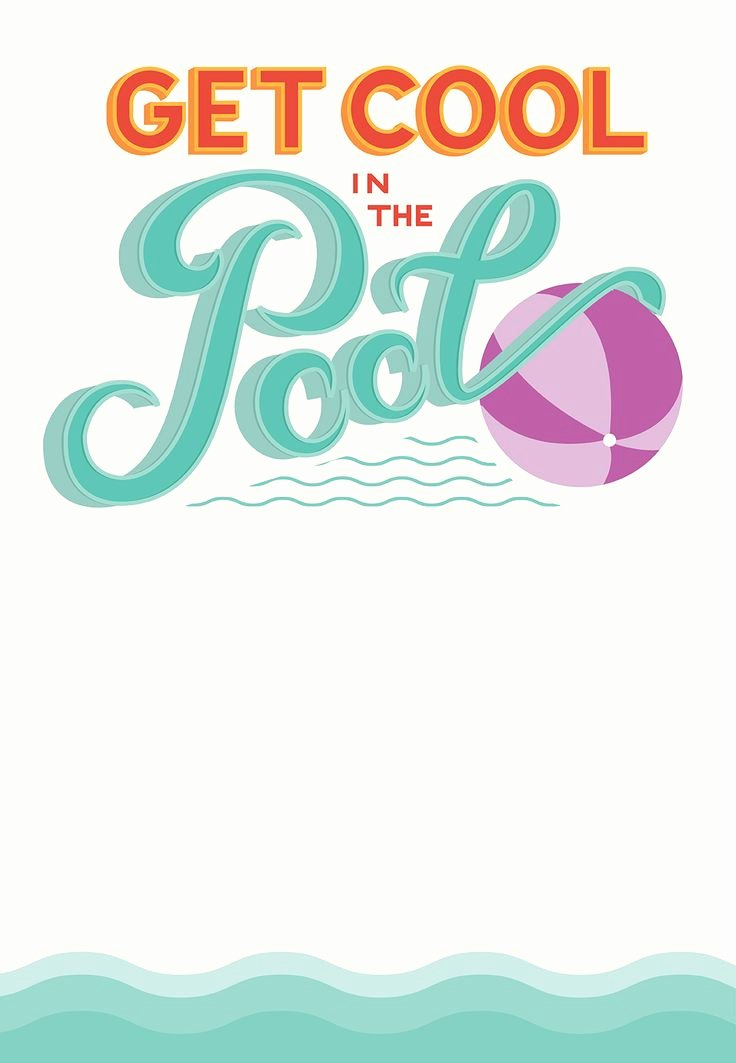 Blank Pool Party Invitations Best Of Pool Party Free Printable Party Invitation Template