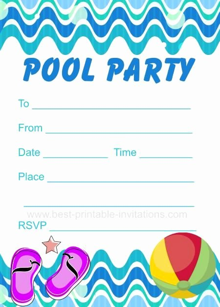 Blank Pool Party Invitations Best Of Pool Party Invitation Free Printable Party Invites From