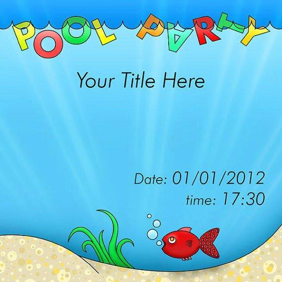 Blank Pool Party Invitations Lovely Blank Pool Invitation