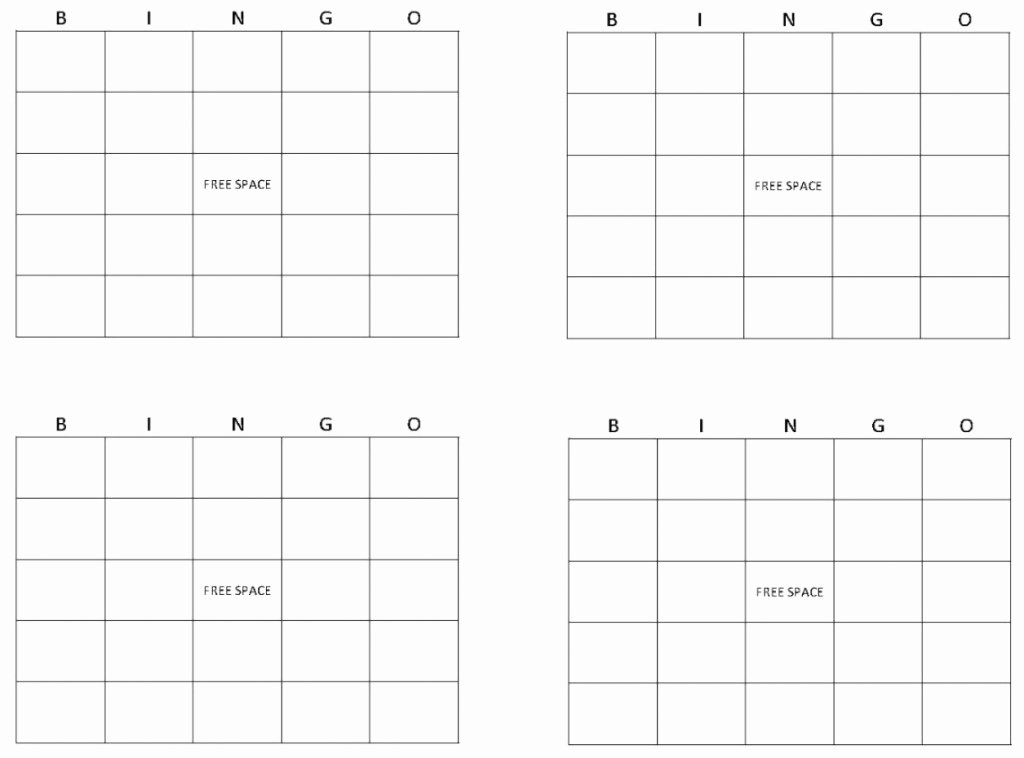 Blank Printable Bingo Cards Awesome Blank Bingo Cards