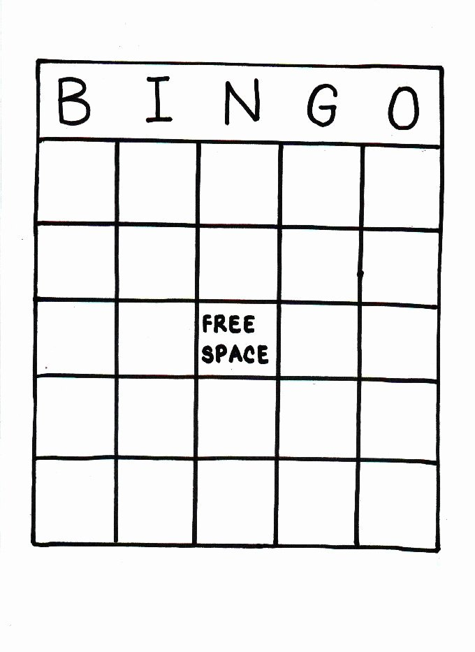 Blank Printable Bingo Cards Beautiful Blank Bingo Card Printable social Stu S