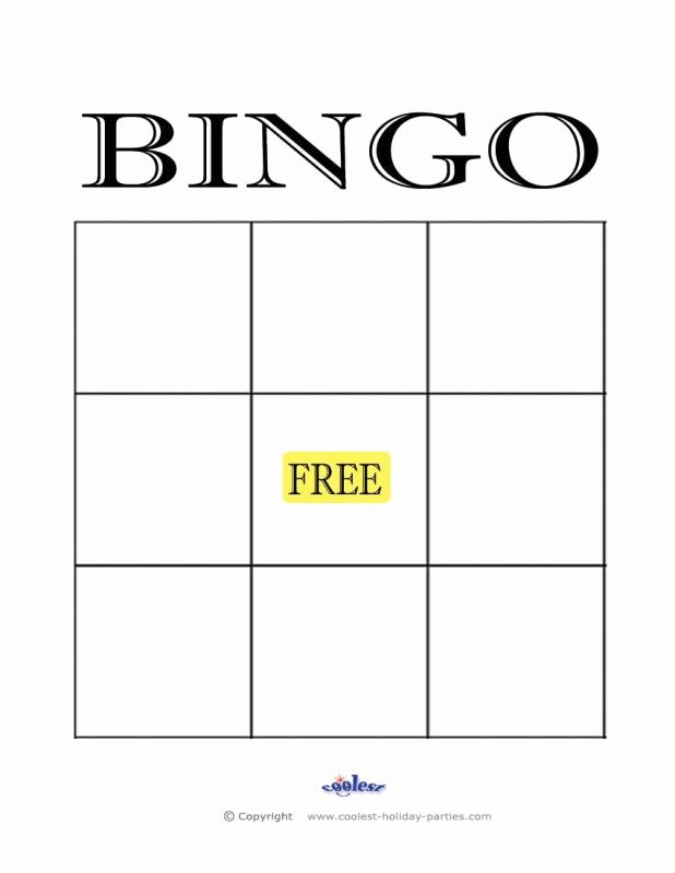 Blank Printable Bingo Cards Best Of Empty Bingo Card