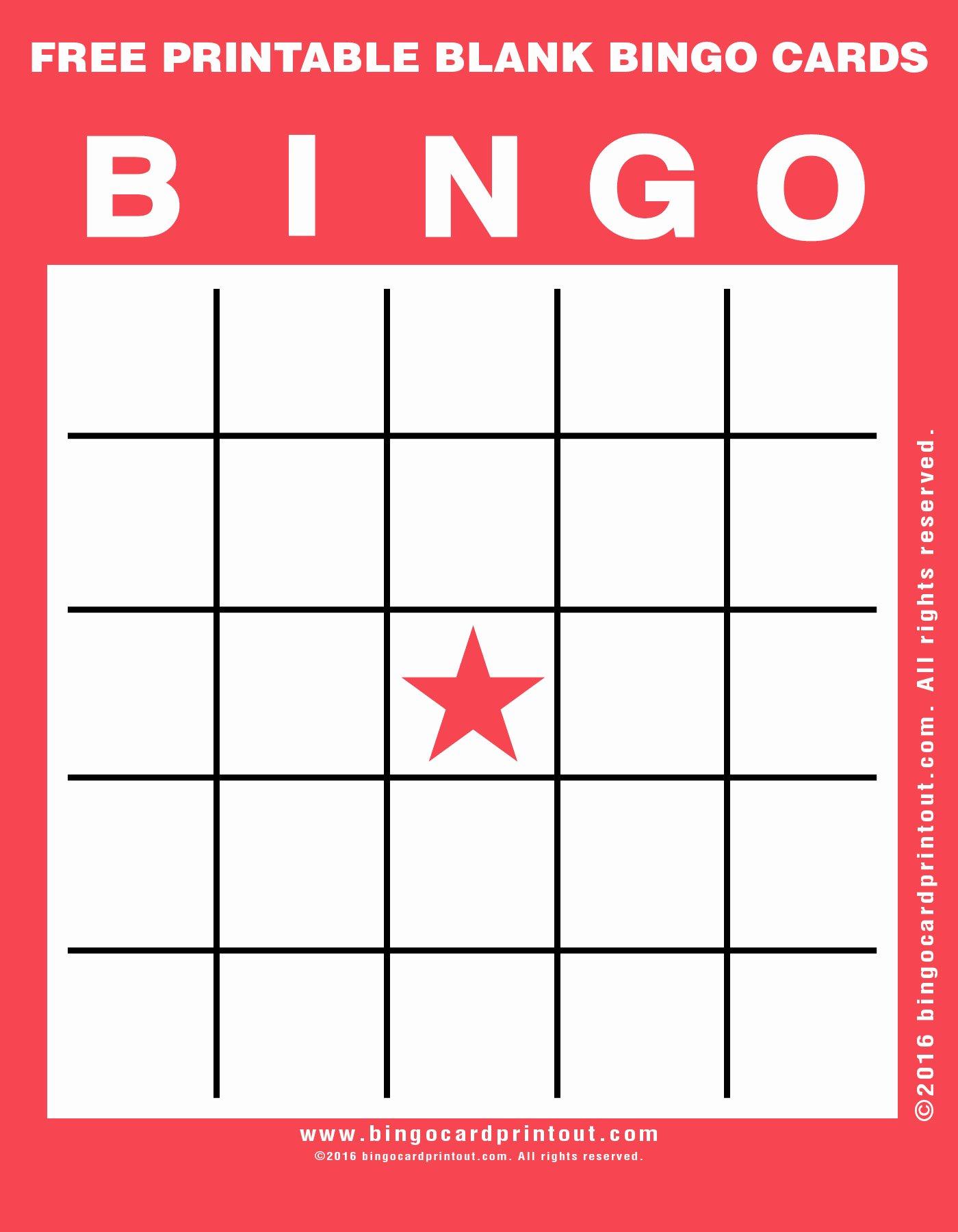 Blank Printable Bingo Cards Elegant Free Printable Blank Bingo Cards Bingocardprintout