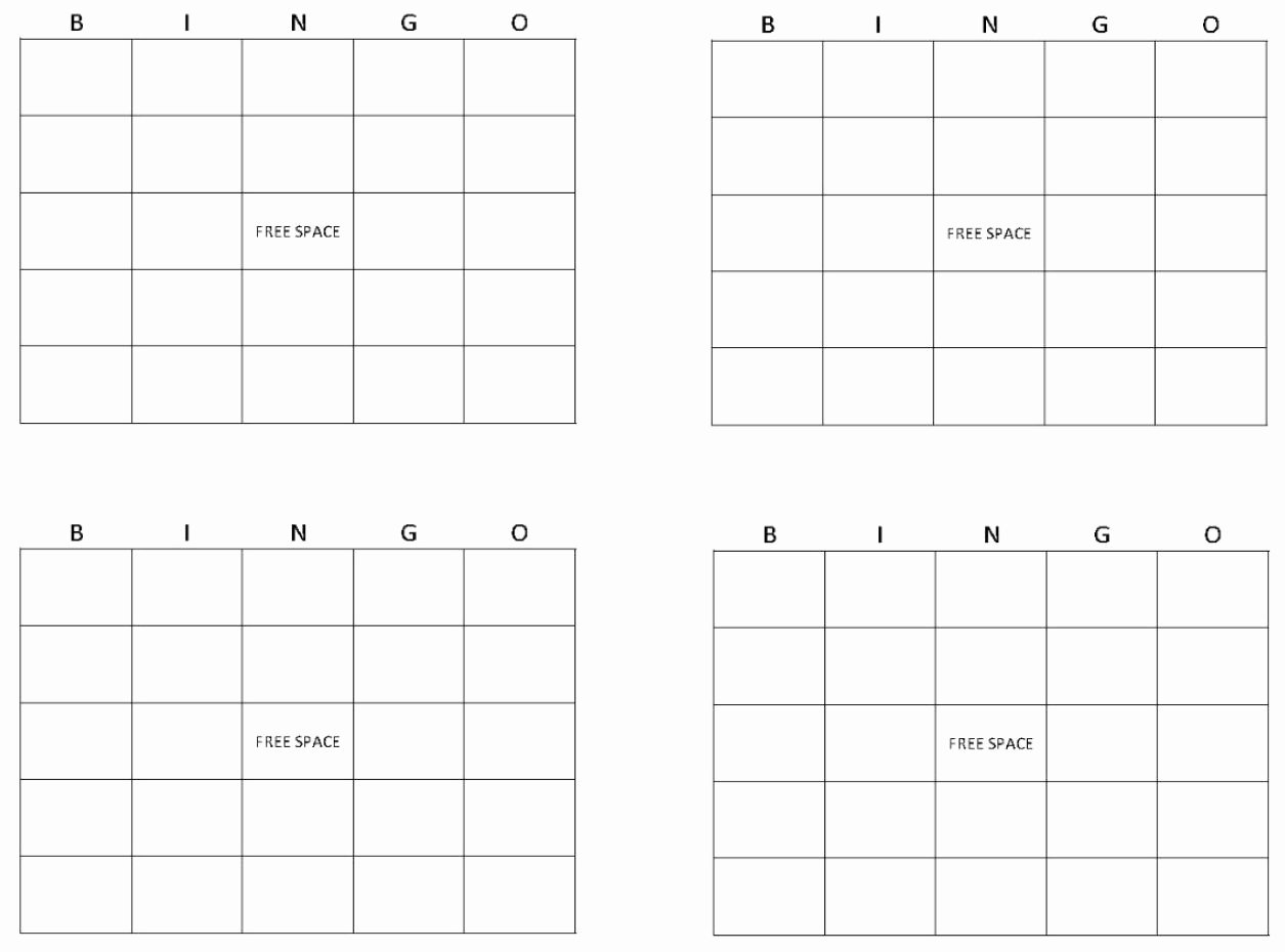 Blank Printable Bingo Cards Fresh Blank Bingo Cards