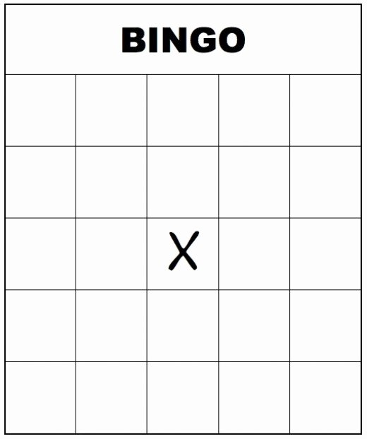 Blank Printable Bingo Cards Fresh Free Printable Bingo Templates