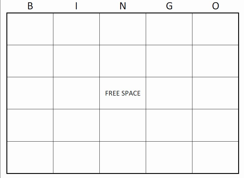 Blank Printable Bingo Cards Lovely Printable Blank Bingo Cards