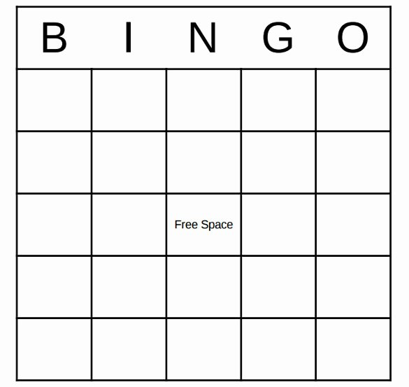 Blank Printable Bingo Cards New Blank Bingo Template 14 Free Psd Word Pdf Vector Eps