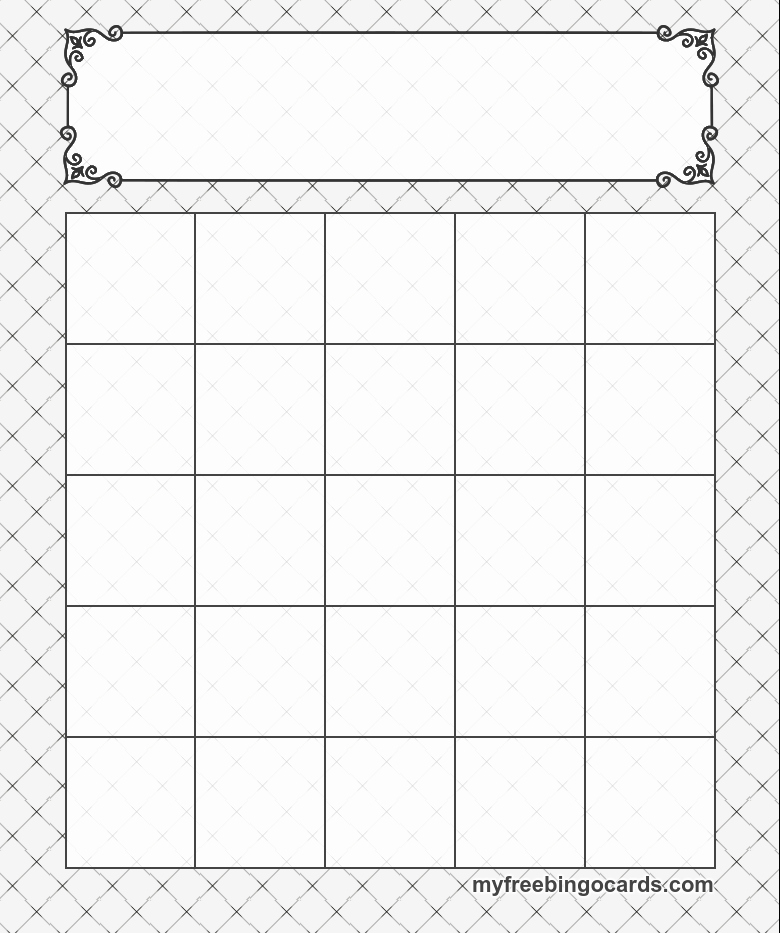 Blank Printable Bingo Cards Unique 5x5 Bingo Templates Cards Education Resources