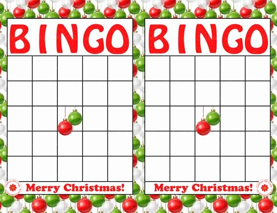 "Blank Printable Bingo Cards Unique Items Similar to Blank ""merry Christmas"" Holiday Bingo"