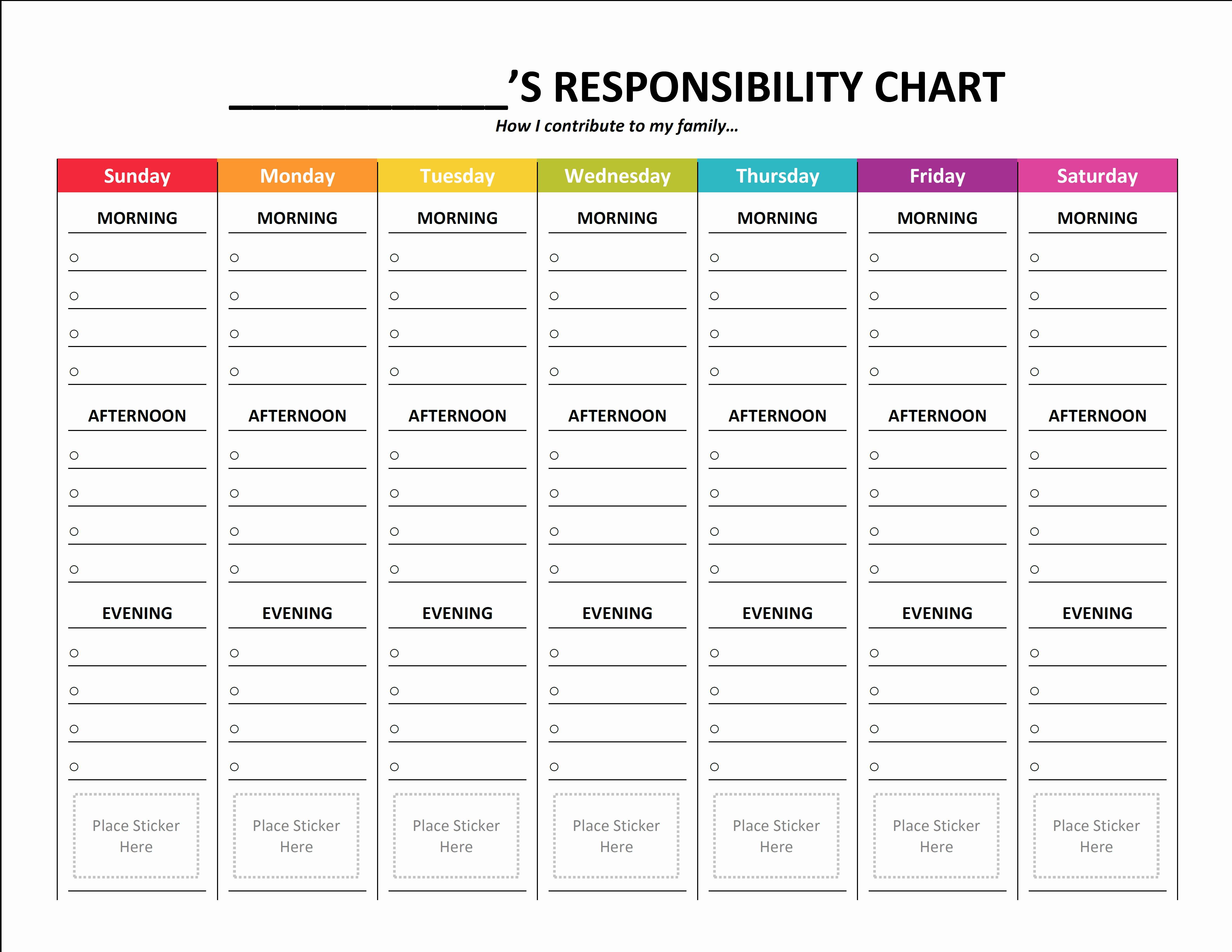 Blank Printable Chore Charts Awesome Plete Housekeeping Printable Set