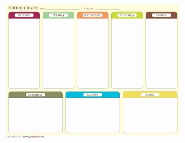 Blank Printable Chore Charts New Free Printable Chore Charts