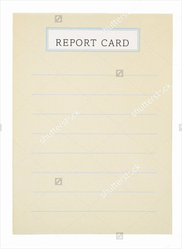 Blank Report Card Template Awesome 59 Example Of Cards Free Sample Example format