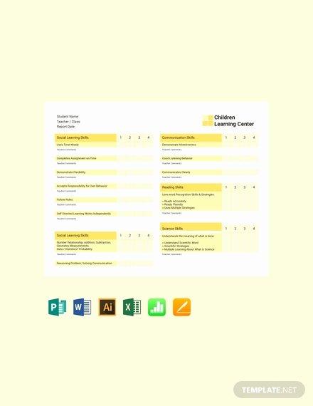 Blank Report Card Template Beautiful Free Blank Report Card Template Download 154 Reports In