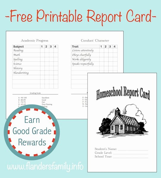 Blank Report Card Template Inspirational Home School Report Cards Free Printable