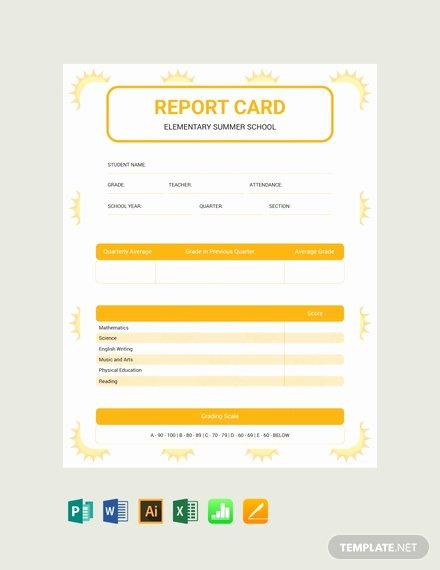 Blank Report Card Template Lovely Free Blank Report Card Template Download 154 Reports In