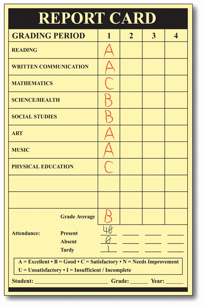 Blank Report Card Template Lovely the Mbt Ponderers Report Cards Anyone