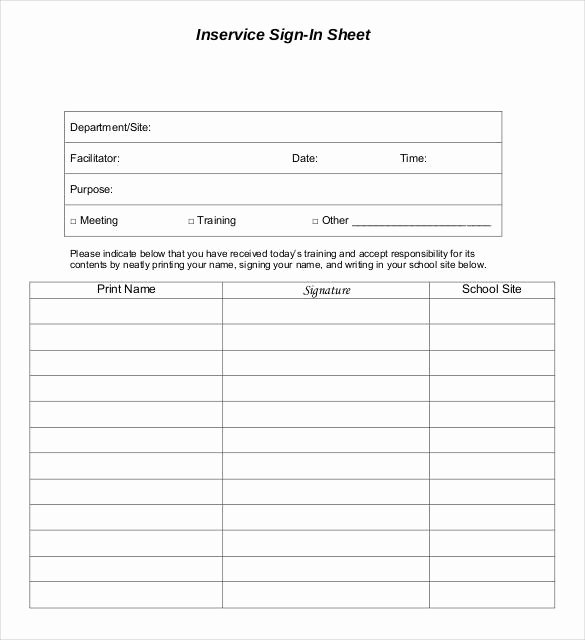 Blank Sign In Sheet Luxury 75 Sign In Sheet Templates Doc Pdf