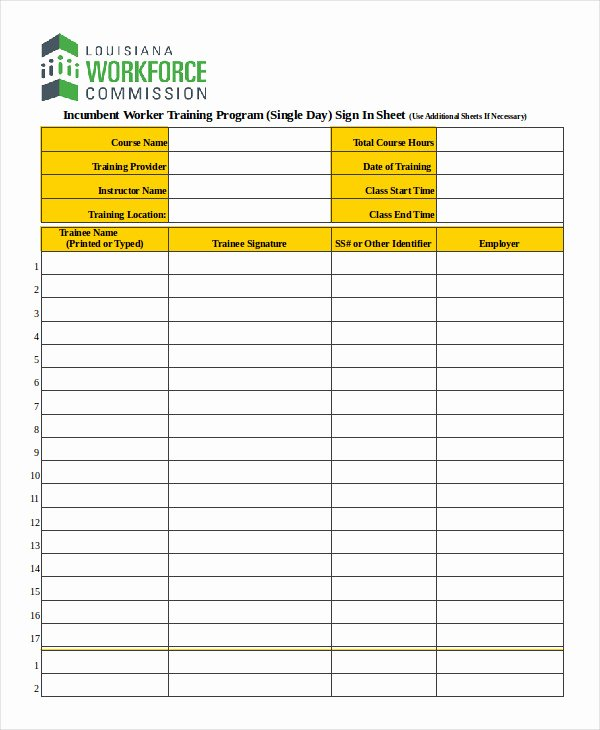 Blank Sign In Sheet Template Best Of Sign In Sheet Template 12 Free Wrd Excel Pdf